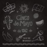 Cinco de Mayo установленный на классн классный Стоковое Изображение