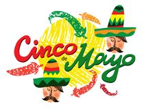 Cinco de mayo9 stock illustrationer