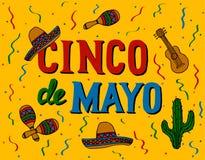 Cinco De Mayo ilustração stock