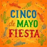 Cinco De Mayo ilustração royalty free