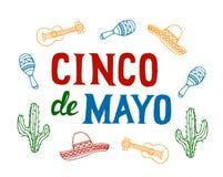 Cinco De Mayo ilustração do vetor