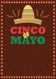 Cinco de Mayo-affiche en vliegermalplaatje