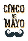 Cinco de Mayo-afficheontwerp met snor