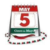 Cinco de Mayo. Holiday date in calendar royalty free illustration