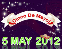 Cinco de Mayo background. Cinco de Mayo background with a banner against the sparkling lights. Vector illustration