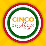 Cinco De Mayo background for a celebration held on May 5. Mexican holiday template in colors of national flag. Vector illustration for advertising, poster Stock Photos