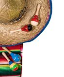 Cinco de Mayo festival background on white. Cinco de Mayo background image on with maracas and sombrero isolated on white layer