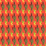 Cinco de Mayo background. Watercolor texture seamless pattern. With cactus, sombrero, guitar, maracas vector illustration