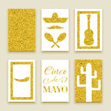 Cinco de Mayo baner royaltyfri illustrationer