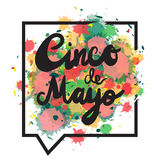 Cinco De Mayo Banner illustration stock