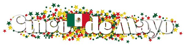 Cinco De Mayo Banner Confetti Photos libres de droits