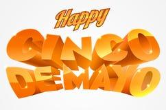 Cinco de Mayo Banner heureux illustration libre de droits