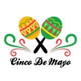 Cinco de Mayo-banner met een paar maracas