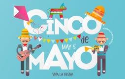 Cinco De Mayo illustrazione vettoriale