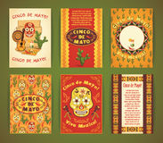 Cinco de Mayo. Big set of vector templates with traditional Mexi Royalty Free Stock Images