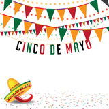 Cinco De Mayo bunting background EPS 10 vector Royalty Free Stock Photography