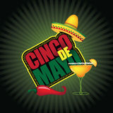 Cinco De Mayo burst. Royalty Free Stock Images