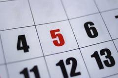Cinco de Mayo Calendar auf numerischem Kalender - Zahl lizenzfreies stockfoto