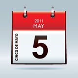 Cinco De Mayo calendar icon stock illustration