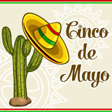 Cinco De Mayo Card stock illustrationer