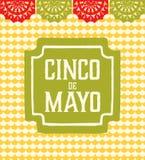 Cinco de Mayo - cartão Fotos de Stock Royalty Free