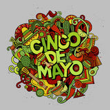Cinco de Mayo. Cartoon vector hand drawn Doodle illustration Stock Photo