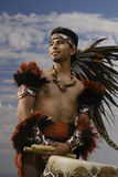 Cinco de Mayo celebration. Aztec Dancer performs on Cinco de Mayo Royalty Free Stock Image
