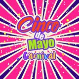 Cinco de Mayo celebration in Mexico,. Design element. Poster, greeting card or brochure template royalty free illustration