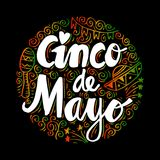 Cinco De Mayo. Cinco De Mayo, Hand lettering poster royalty free illustration