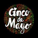 Cinco De Mayo. Cinco De Mayo, Hand lettering poster Royalty Free Stock Images