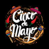 Cinco De Mayo. stock illustration