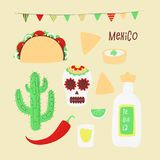 Cinco de mayo. Mexican vector design concept with taco