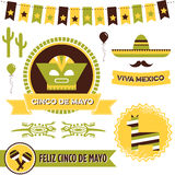 Cinco de Mayo Clipart Stockfotos
