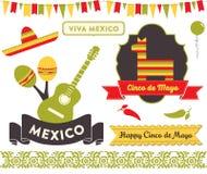 Cinco de Mayo Clipart Fotografía de archivo