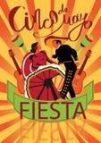 Cinco De Mayo coaster design, poster, flier, signage, party invitation Royalty Free Stock Photo