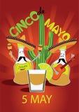 Cinco De Mayo coaster design, poster, flier, signage, party invitation Stock Photography