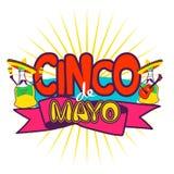Cinco De Mayo coaster design, poster, flier, signage, party invitation Stock Images