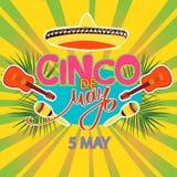 Cinco De Mayo coaster design, poster, flier, signage, party invitation Royalty Free Stock Photos