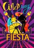 Cinco De Mayo coaster design, poster, flier, signage, party invitation Stock Photo