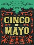 Cinco de Mayo - día de fiesta mexicano ilustración del vector