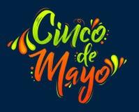 Cinco de Mayo, d?a de fiesta mexicano tradicional, poniendo letras al ejemplo del vector libre illustration