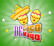 Cinco De Mayo design element Vector illustration Royalty Free Stock Photos
