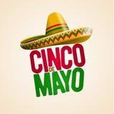 Cinco de Mayo design. Cinco de Mayo holiday poster design. Vector illustration stock illustration