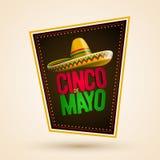 Cinco de Mayo design. Cinco de Mayo holiday poster design. Vector illustration royalty free illustration
