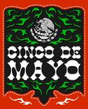 Cinco de Mayo, diseño con el emblema patriótico mexicano libre illustration