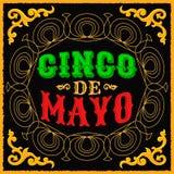 Cinco de Mayo - diseño tradicional mexicano del día de fiesta libre illustration