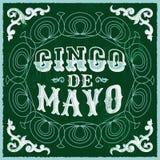 Cinco de Mayo - diseño tradicional mexicano del día de fiesta del vintage