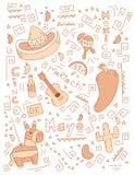 Cinco de Mayo Doodle Royalty Free Stock Image