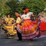 Cinco de Mayo festival dancers in costume Royalty Free Stock Images