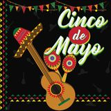 Cinco De Mayo Festival messicano royalty illustrazione gratis